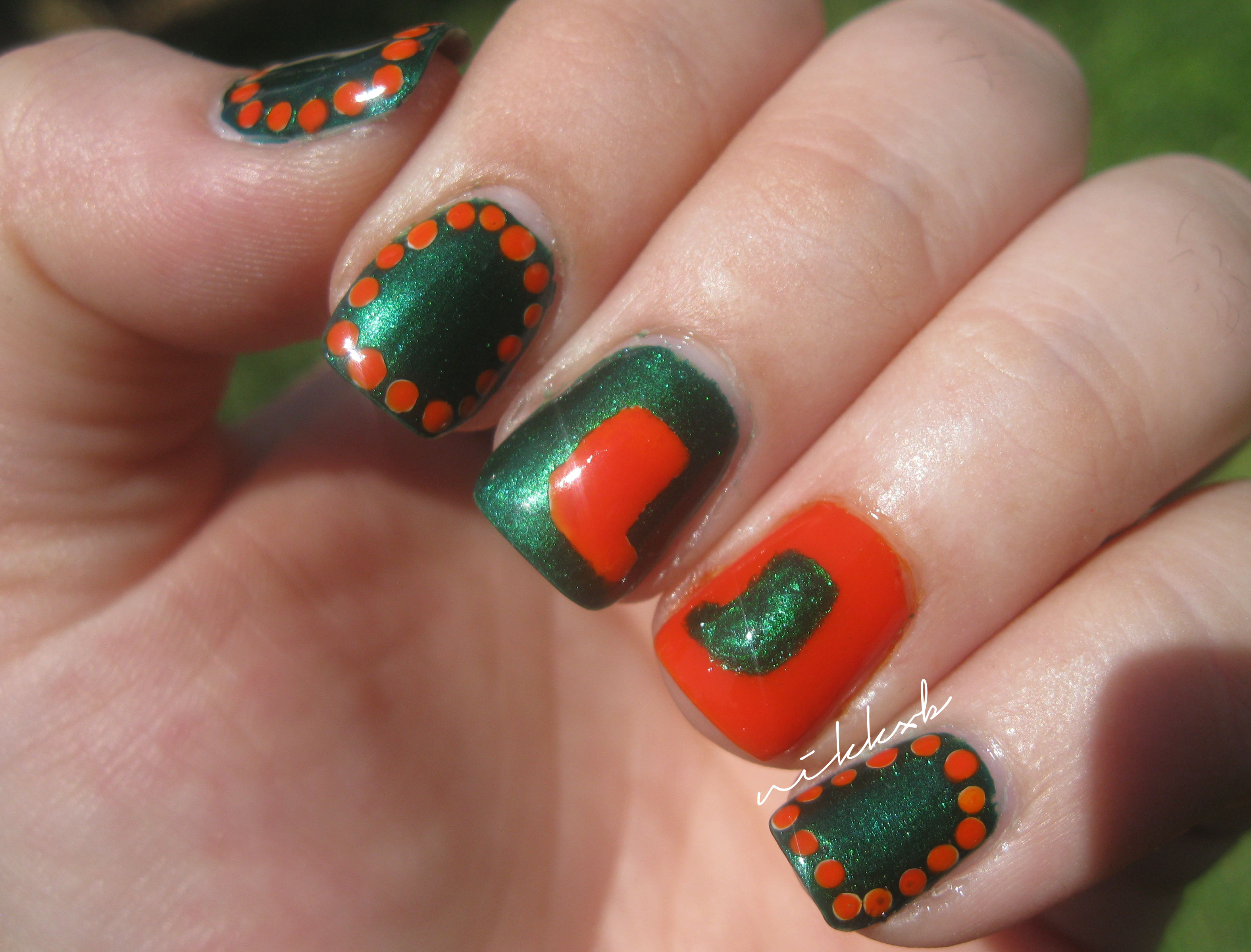 University Of Miami Niknails