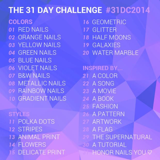 2014 31 day challenge