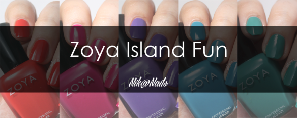 Zoya Island Fun Swatches