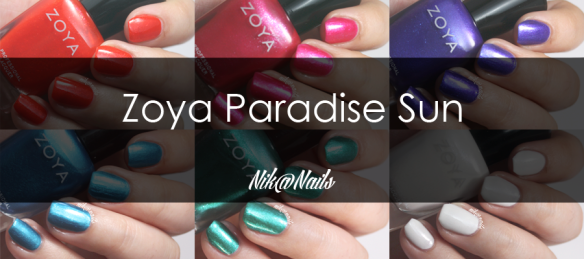 Zoya Paradise Sun Swatches