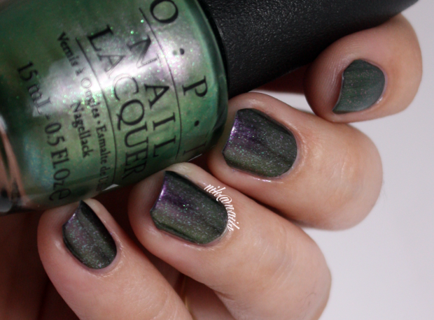 OPI Visions of Georgia Green Swatch