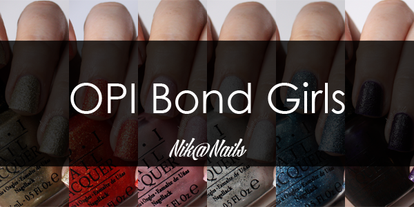OPI Bond Girls Swatches